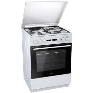 Κουζίνα Μεικτή Korting KK 64 W Λευκό Α