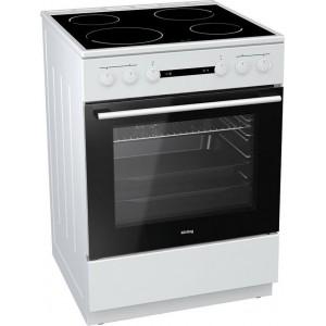 Κουζίνα 67lt με Εστίες Κεραμικές Korting KEC 6141 WPG 67lt