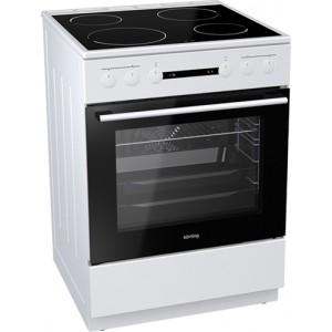 Κουζίνα 71lt με Εστίες Κεραμικές Korting KEC 6151 WPG 71lt