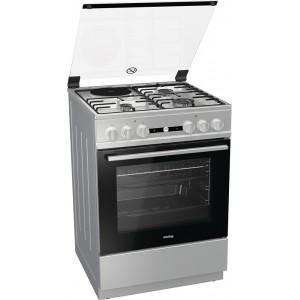 Κουζίνα 67lt με Εστίες Μικτές Korting KK 6141 XD